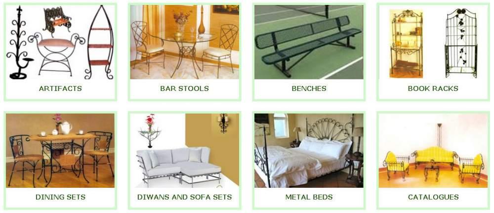 Buy Wrought Iron metal Furniture