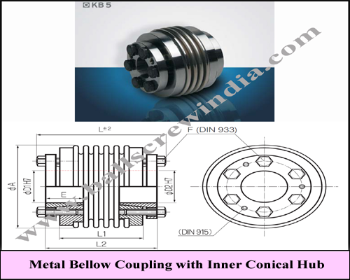 Buy Metal Bellow Coupling With Inner Conical Hub