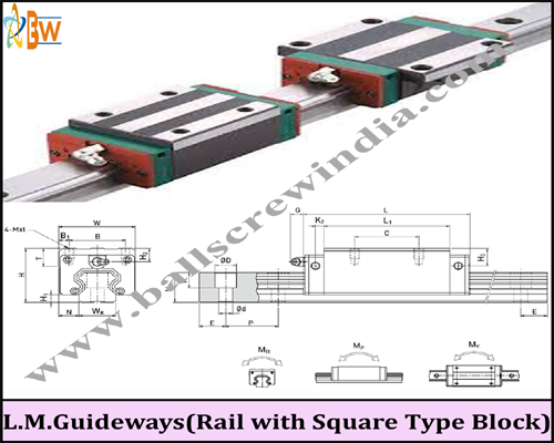 Buy L.M. Guideways (Rail with Square Type Block)