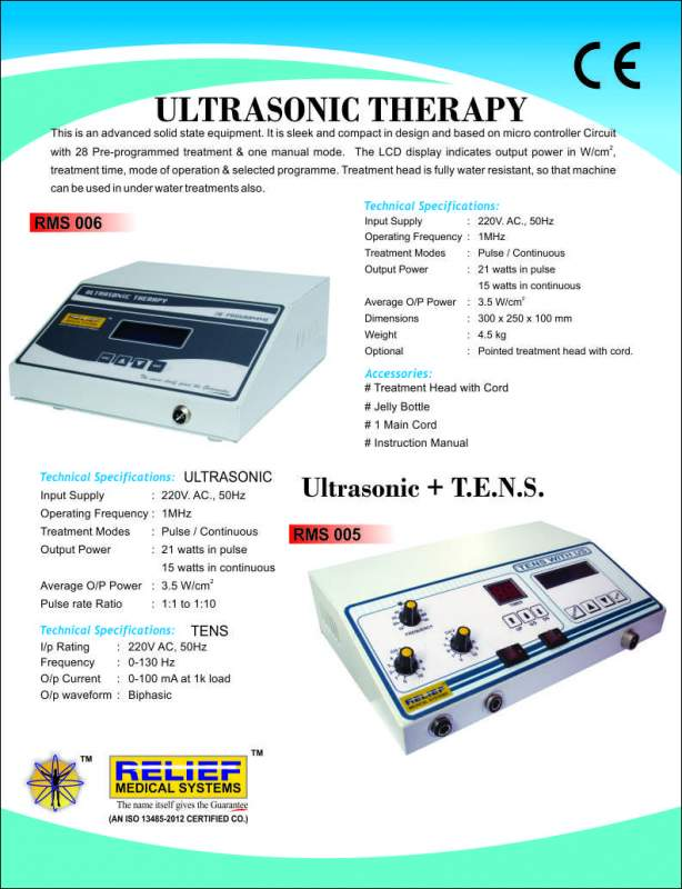 SHORTWAVE DIATHERMY, ULTRARSONIC THERAPY, TRACTION UNIT, INTERFERENTIAL THERAPY