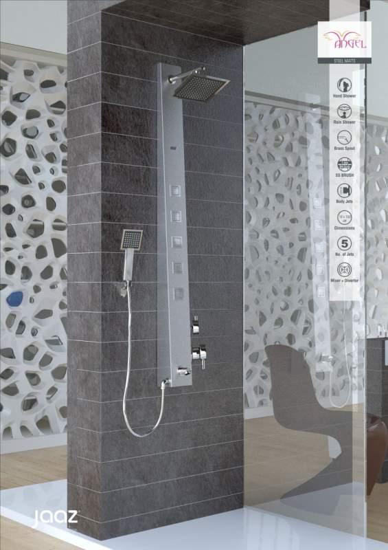 Buy Shower Panel Jaaz Angel Steel Matte