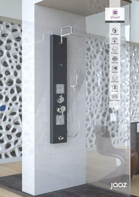 Buy Shower Panel Jaaz Pearl Black