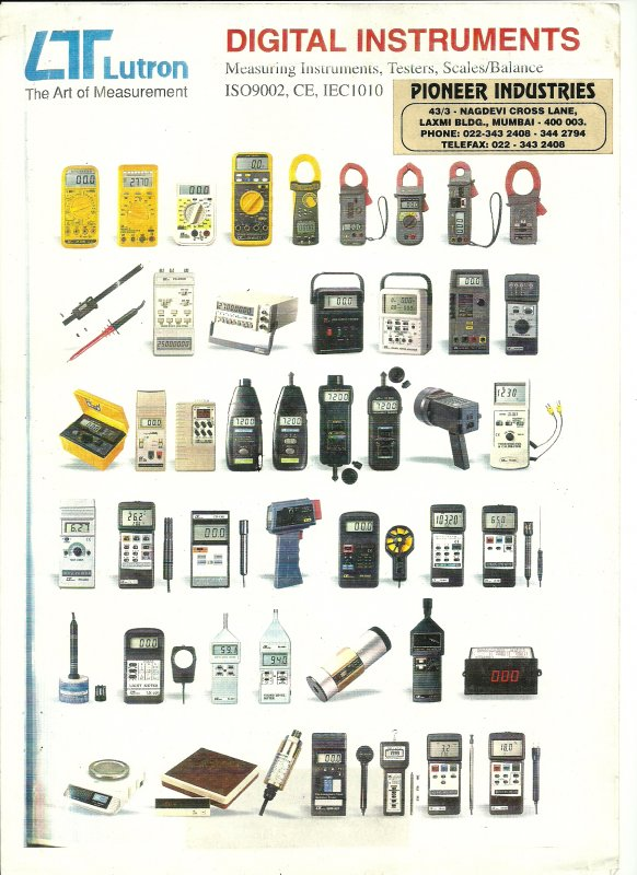 Buy STROBOSCOPE,FORCE GUAGE,ANEMOMETER,LUX METER,SOUND LEVEL METER,IR LASER THERMOMETER,TACHOMETER,MECHANICAL COUNTERS,VIBRATION METER,STATIC CHARGE METER.
