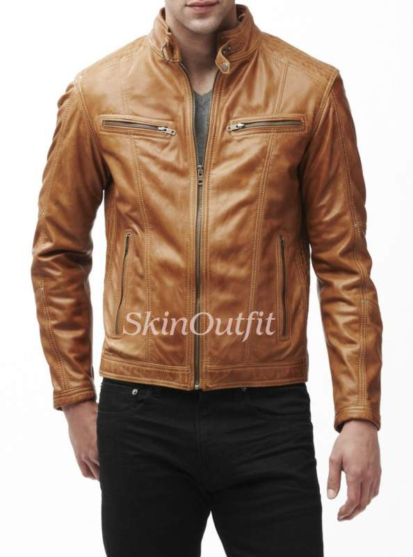 MENS LEATHER JACKET 72 for sale in Mumbai on English