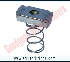 Buy Spring channel nuts, channel bracketry, pipe clamps, unistrut channels, cantilever arms, manufacturers exporters in india, usa, uk, America, UAE Dubai, australia, italy, canada