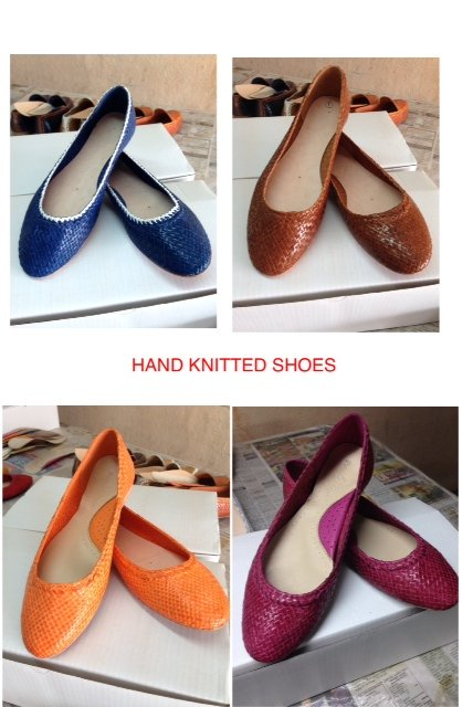 Buy LEATHER HAND KNITTED SHOES AND UPPERS