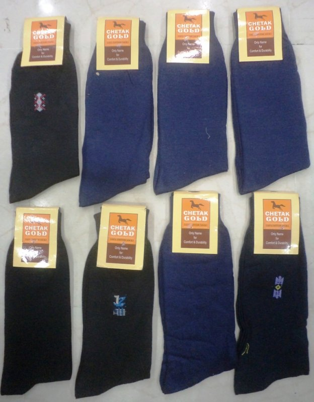 Buy Mens Socks 100% Cotton(6 Pc Pack) In Wholesale Only Rs 25/- pc