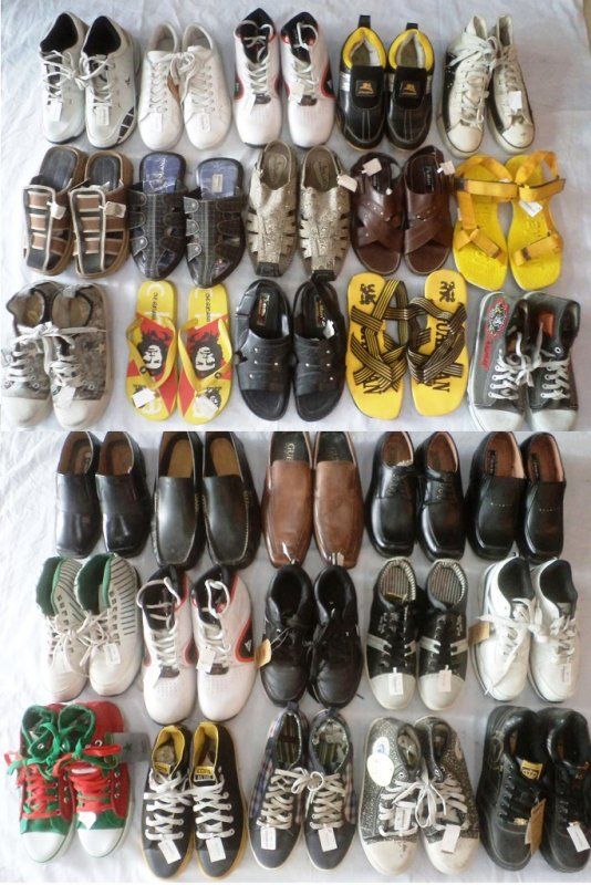 Buy Mens Footwear Mix Lot Of 126 pcs (Worth Rs 295 to 2995) Only Rs 200/piece in Wholesale