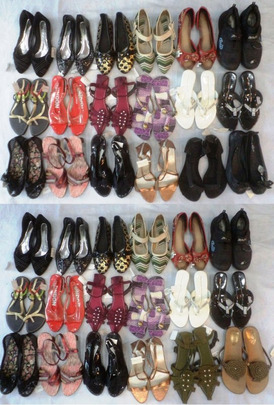Buy Ladies Footwear Mix Lot Of 132 pcs (Worth Rs 295 to 795) Only Rs 100 per piece in WHOLESALE