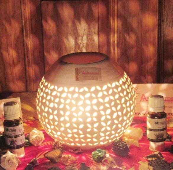 Buy Aromastore Ceramic White Electric Aroma Diffuser / Lamps / Oil Burner / Aromatherapy Diffuser