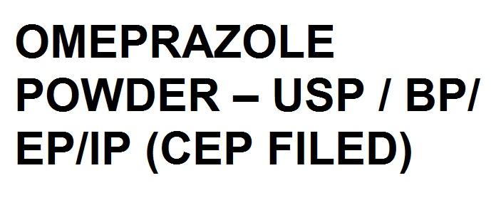 Buy OMEPRAZOLE POWDER – USP / BP/ EP/IP (CEP FILED)
