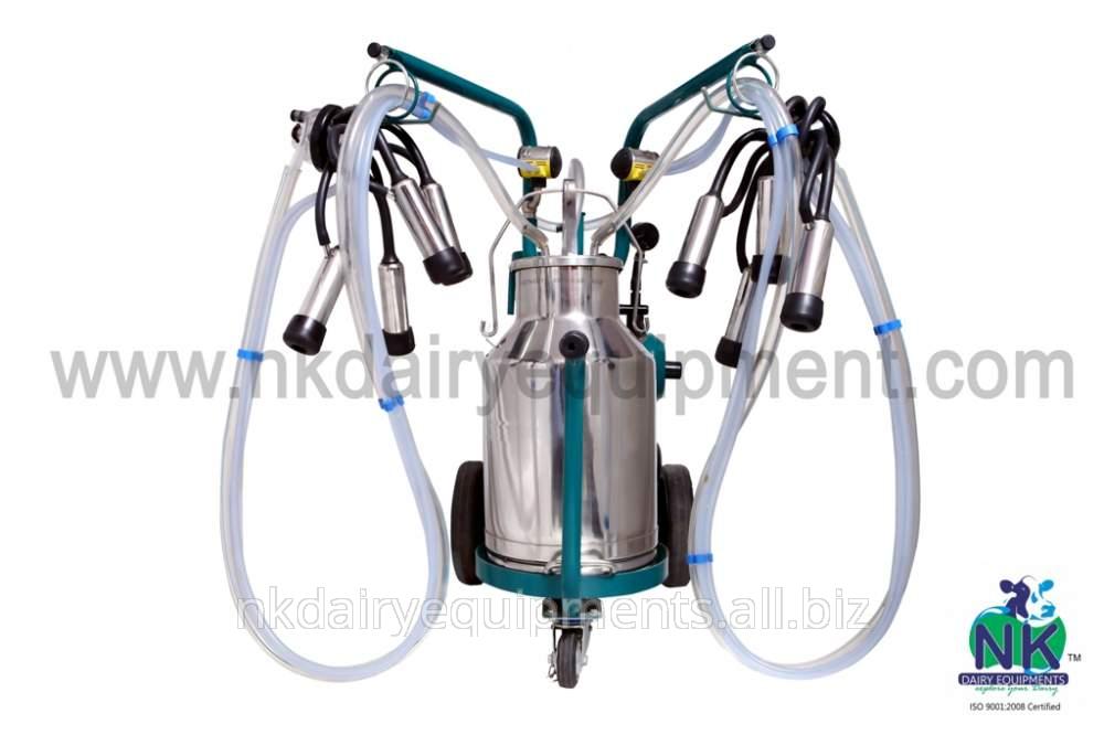 Single Bucket Double Cluster Milking Machine