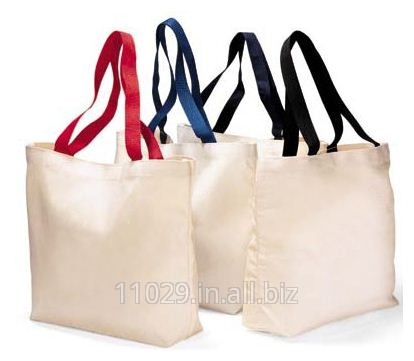 Cotton Canvas Tote with Reinforced Webbed Handle cotton bag