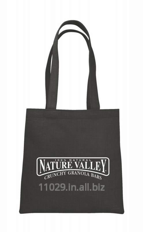 V-natural Cotton Flat Tote Bag