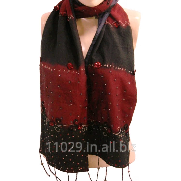 Beaded Polyester Neck Scarf