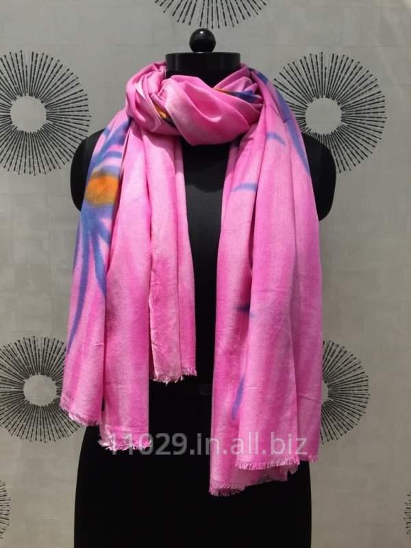 Pink Fushia-Hand Printed Viscose Pareos