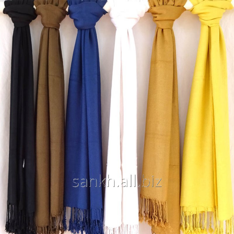 Single Solid color Pashmina Style Women's viscose Wrap around Stole-Wholesale Offer