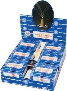 12 Box Carton-Nag Champa - Satya Sai Baba Incense Dhoop Cones-12 box carton pack
