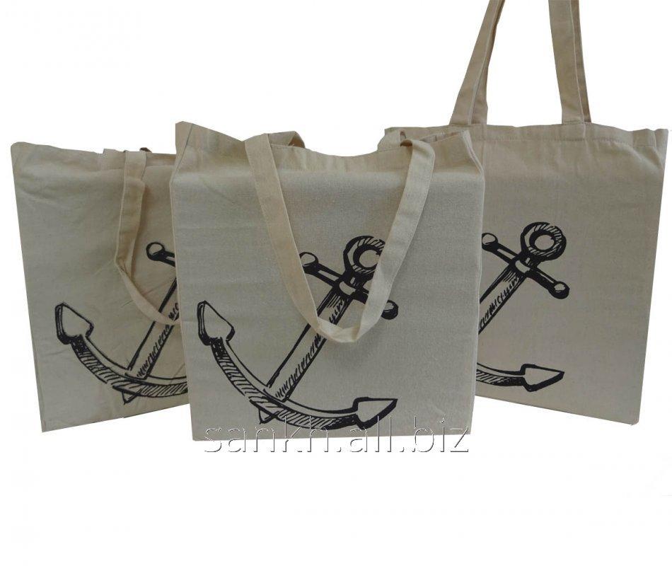 Cotton canvas bag with Anchor print