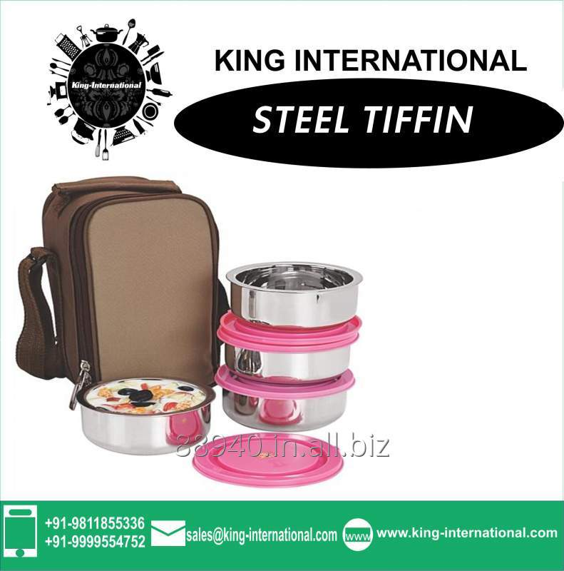Insulated Air Tight Tiffin with plastic Air tight lid and Bag