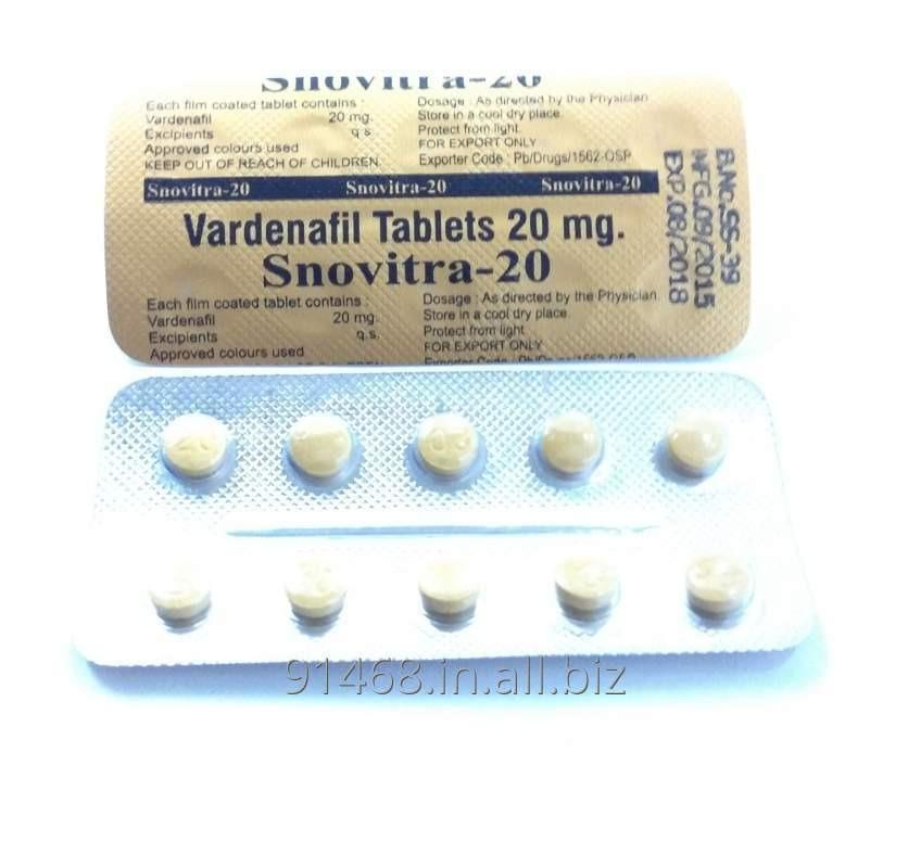 SNOVITRA 20 mg GENERIC LEVITRA