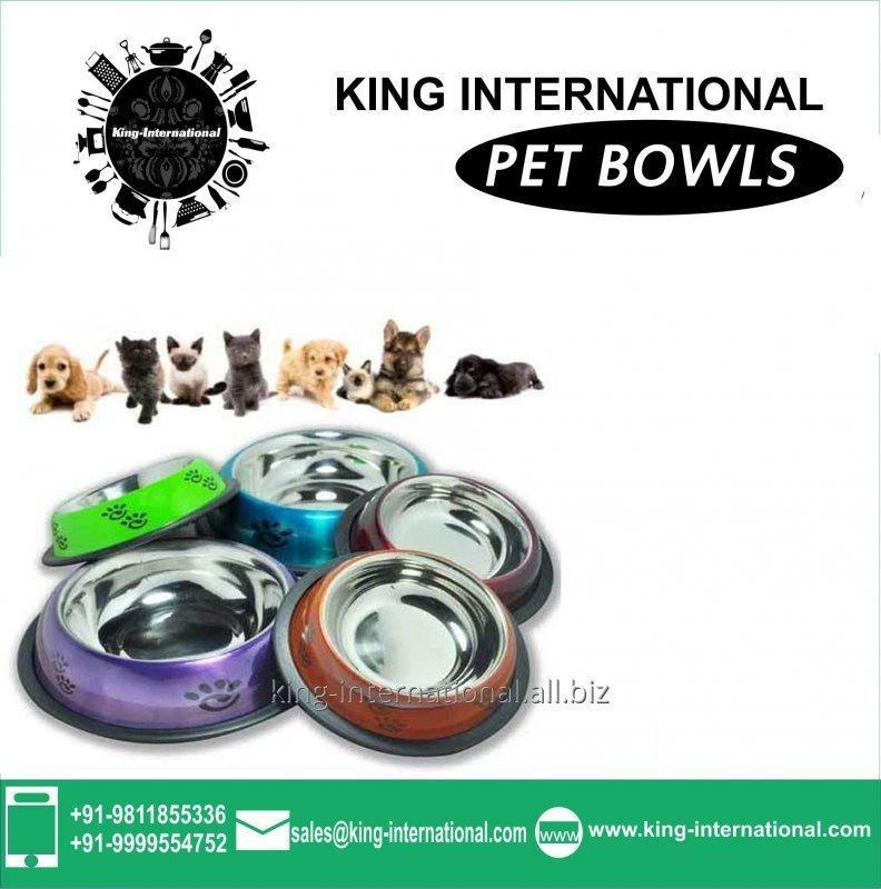 Silver Pet Bowls Set of 3 pcs