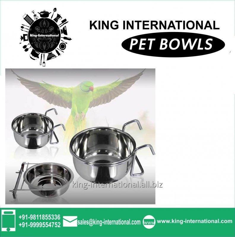 Steel Pet Bowls Set of 3 pcs