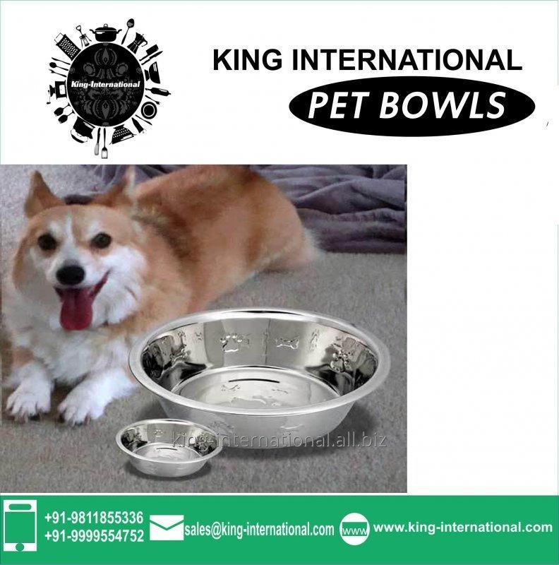 Steel Pet Bowls Set of 2 pcs