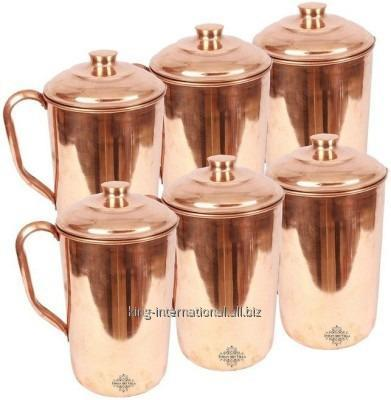 Buy Steel Copper jug with ice catcher