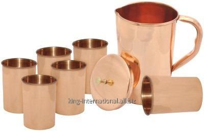Buy Copper jug with ice catcher pot