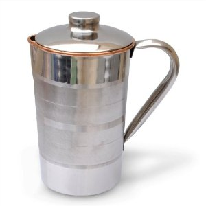 Buy Copper jug with ice catcher With Lid