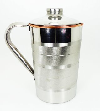 Buy Copper Water large Copper jug with ice catcher