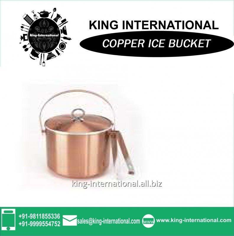 Buy 1.5L Copper ice bucket with tongs