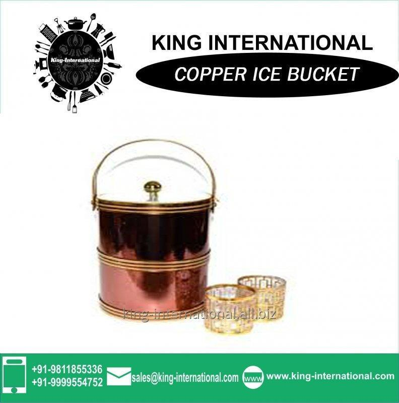 Buy High quality Copper led ice cube bucket for gift