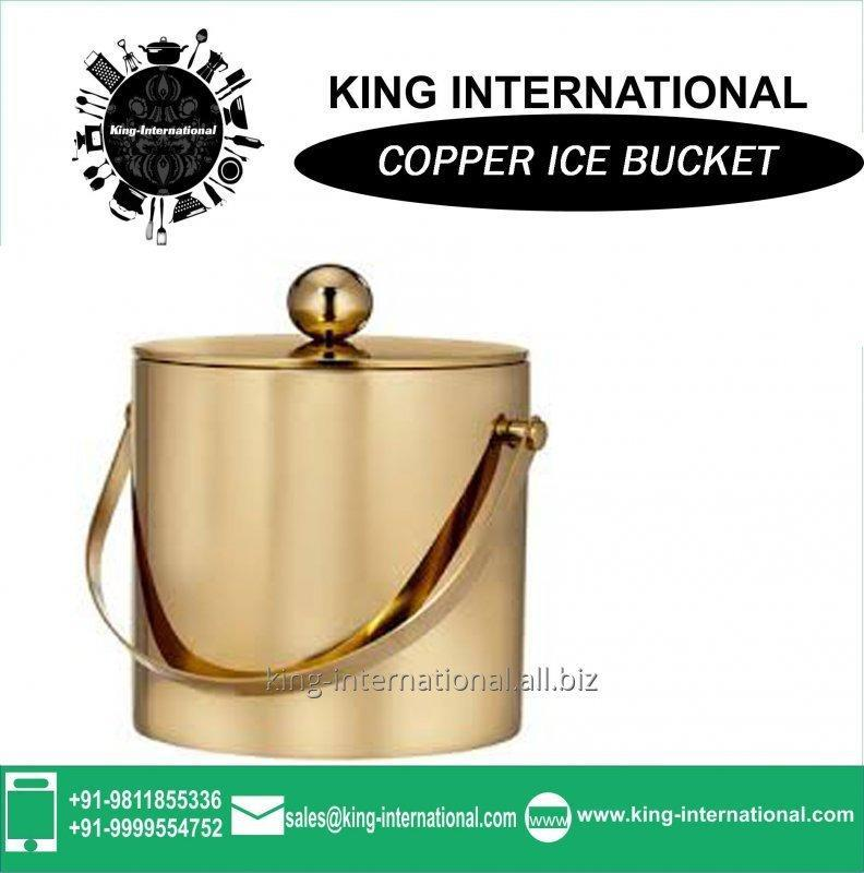 Buy New Stye Copper Ice Bucket With Scoop And Lid