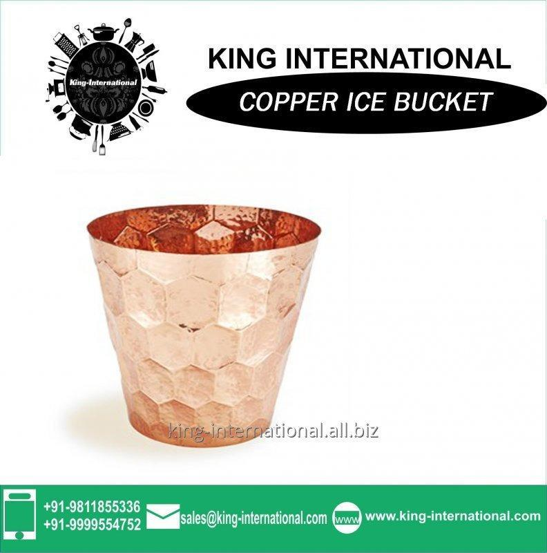 Buy 4L Copper Egg-shape Ice bucket with Flat Lid