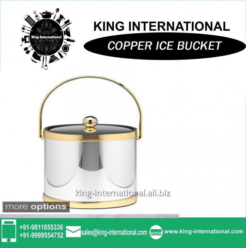 Buy New style Copper ice bucket with handles