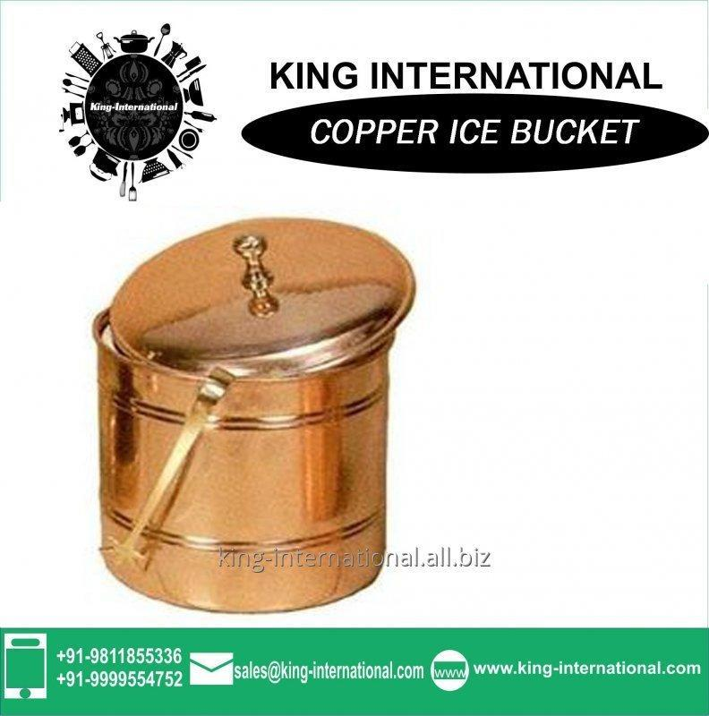 Buy Copper ice bucket with lid