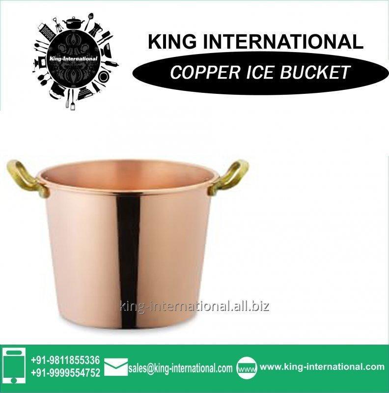 Buy Copper ice bucket for bar