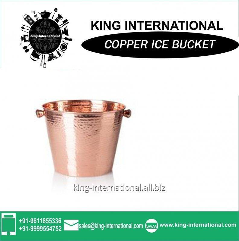 Buy Copper ice bucket with matt brushed surface