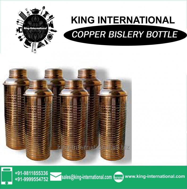 Buy Wholesale Clear Glass Oil Bislery Bottle With Copper Lid