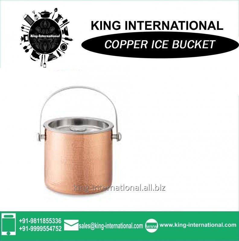 Buy Copper Double Wall Ice Bucket