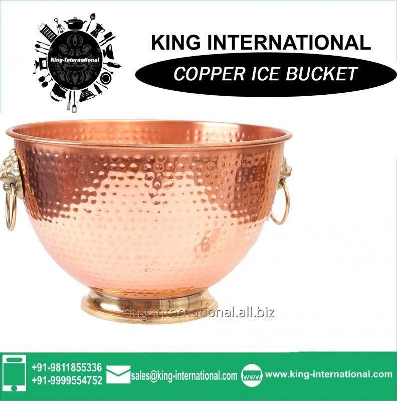 Buy Copper Small ice bucket 750ml