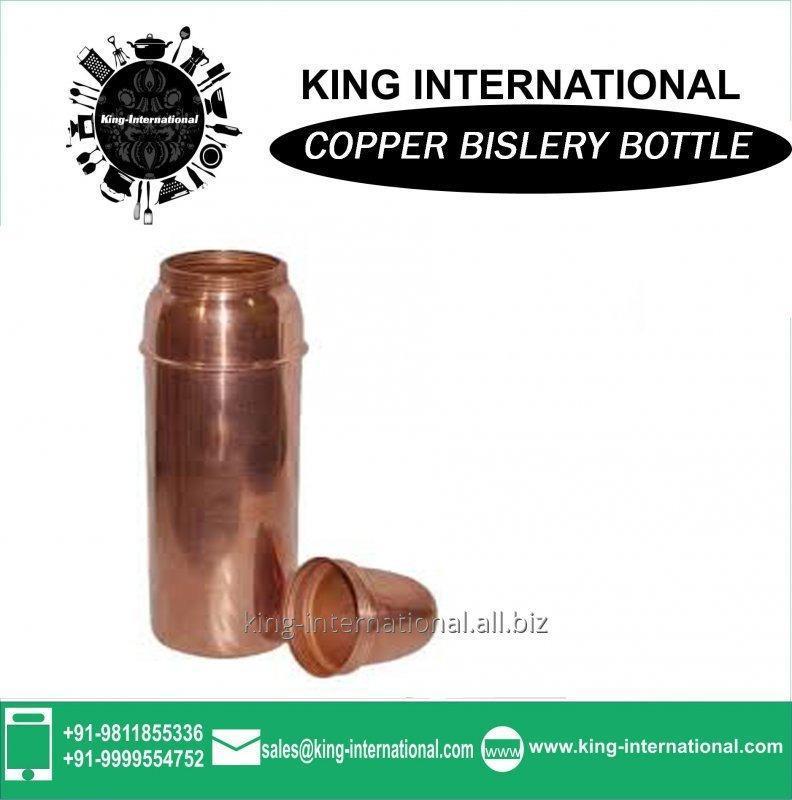 Buy 1000ml cola shape double wall Copper Bislery Bottle Plain
