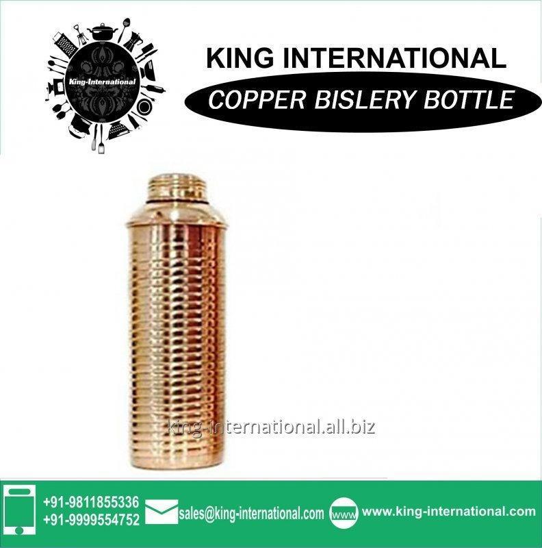 Buy Clear glass Bottle Plain Copper Bottle