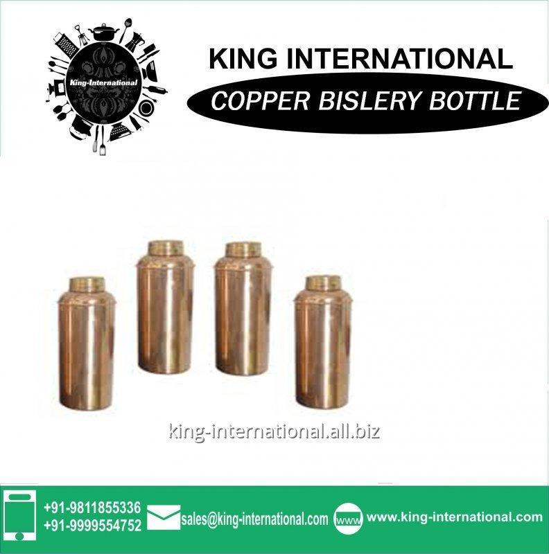 Buy 1000ml cola shape double wall Copper Bislery Bottle