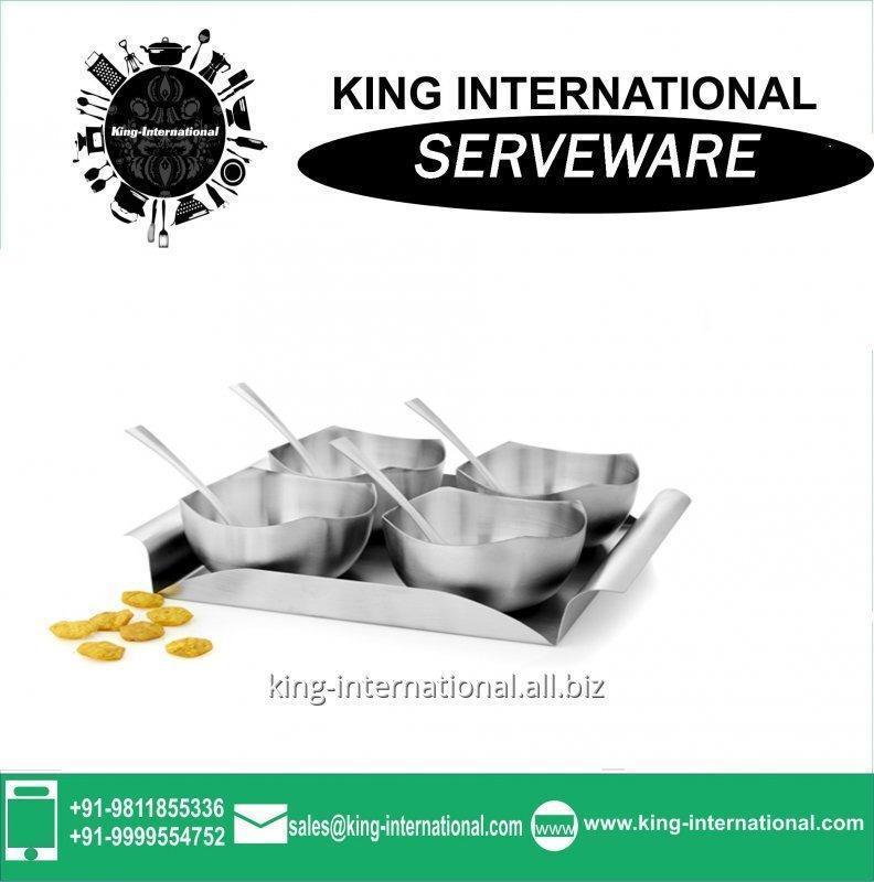 Buy Mirror polish stainless steel Serveware Serving Set