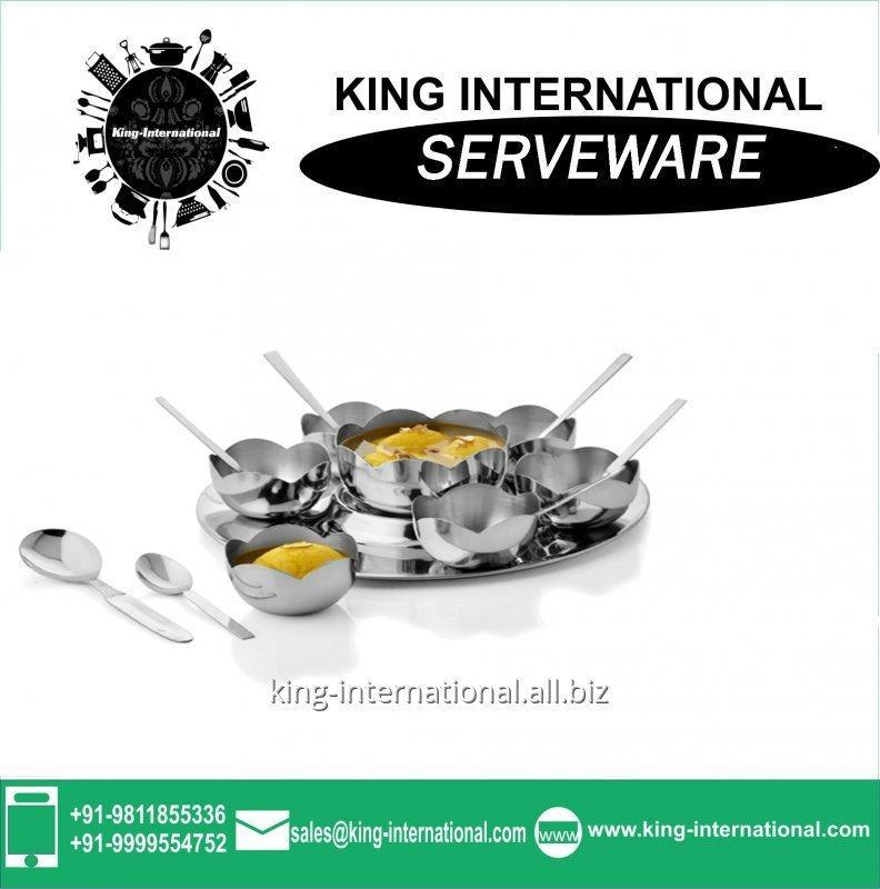 Buy Stainless steel Serveware Serving Set and size