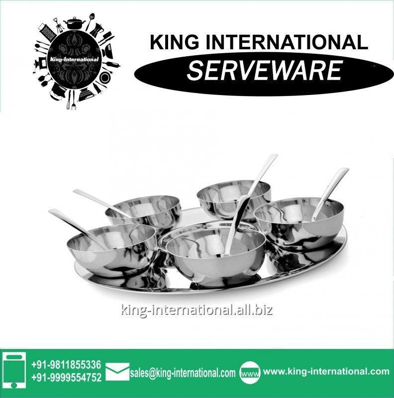 Buy Best quality promotional stainless steel Serveware Serving Set
