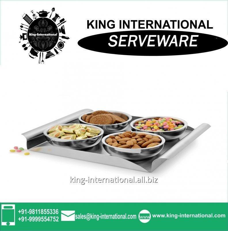 Buy Food grade stainless steel Serveware Serving Set tea Serving Set